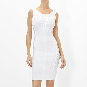 HERVE LEGER YSABEL HAND-CRAFTED BANDAGE DRESS